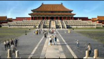 Wide time-lapse of the Forbidden City in China.