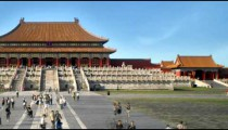 Time-lapse of the Forbidden City in China.