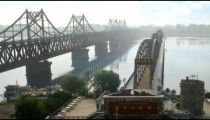 Time-lapse of the Freedom Bridge in China.