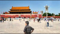 Time-lapse of area of Tiananmen Square China.