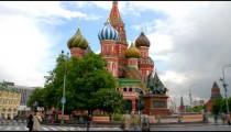Time-lapse of St. Basil's Cathedral Moscow.