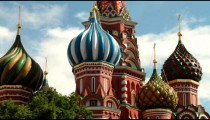 Time-lapse of the top of St. Basil's Cathedral Moscow.