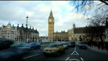 Time-lapse of street in London and Big Ben.