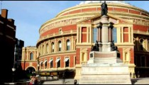 Time-lapse showing a statue at Royal Albert Hall in London.