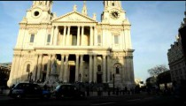 Time-lapse of St. Paul's Cathedral in London with traffic.