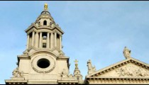Time-lapse of a tower of St. Paul's Cathedral in London.