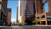 Time-lapse of downtown city intersection in Phoenix AZ.