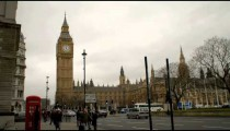 Time-lapse of Big Ben clock tower in London.