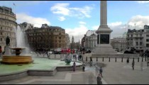 Time-lapse of a fountain at Trafalgar Square in England.