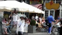 Time-lapse of cafe tables in Amsterdam.