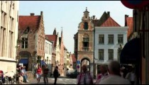 Time-lapse of a street scene in Bruges Belgium.