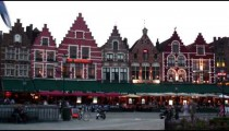 Time-lapse of people in Market Square of Bruges Belgium.