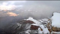 Time-lapse of Grand Canyon in winter.