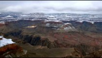 Time-lapse of a snowy landscape at the Grand Canyon.