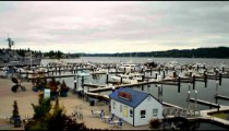Time-lapse of a boat harbor.