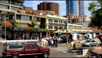 Time-lapse of a busy city street.