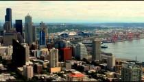 Time-lapse of a city skyline.