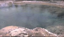Clip of a hot pot in Yellowstone National Park.