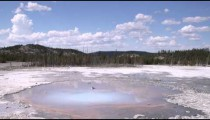 Clip of a geothermal feature in Yellowstone National Park.