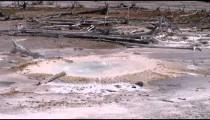 Shot of a Yellowstone hot pot.