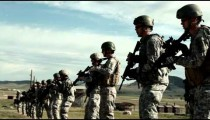 Soldiers practicing firing movements at Green Beret training.