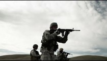 Soldiers practicing shooting at Green Beret firing range