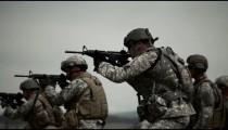 Green Berets doing drills at a shooting range.