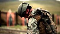 Soldier getting Beretta pistol ready