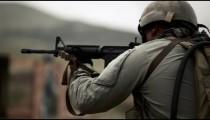 Soldier shooting at range