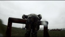 Green Beret in training obstacle course