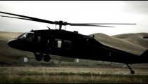Black Hawk helicopter landing