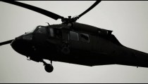 Black Hawk helicopter doing flyby