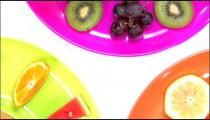 Rotating close-up of an assortment of fruit.