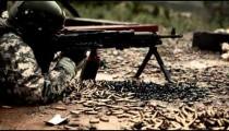 Soldier leaves gun