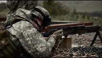 Machine gun shooting practice