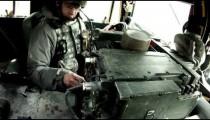 Machine gun target practice