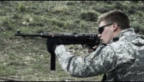 Soldier shooting an MP40