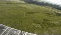 Footage from inside a CH-47 Chinook helicopter in flight.