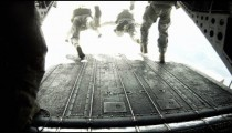 Walking from the front to the back of a CH-47 Chinook Helicopter.