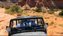 Camera attached to a Jeep driving in Moab.