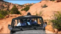 Driving Jeep in Moab.