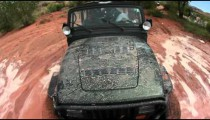 Jeep driving through Moab, Probe view
