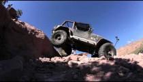 Jeep Climbing rock in reverse