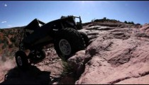 Attempting to Climb a Ledge in Moab, Utah