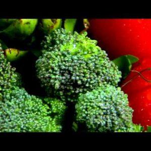 Close shot of an assortment of vegetables rotating.