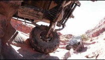 Jeep stuck on rocks