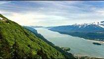 Time-lapse of an Alaskan bay from the top