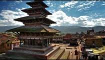 Time-lapse of Nyatapola temple and Taumadhi square in Bhaktapur, Nepal.