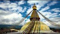 Time-lapse of the top of Boudhanath Stupa in Boudha, Nepal.