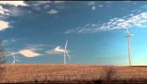 Iowa Fields with Windmills